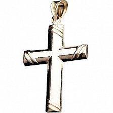 Крестик из желтого и белого золота Святыня