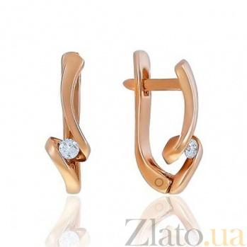 Золотые серьги Афродита с бриллиантами EDM--С7482