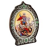 Икона латунная Святой Георгий Победоносец