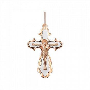 Золотий хрестик в комбінованому кольорі 000145474