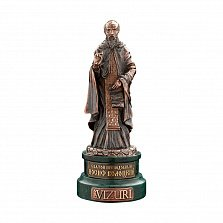 Бронзовая скульптура Преподобный Иосиф Волоцкий на мраморной подставке