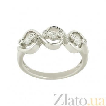 Золотое кольцо с бриллиантами Клодина 1К033-0241