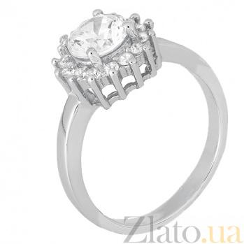 Кольцо из серебра Анкария с цирконием 000028280