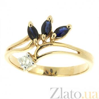 Золотое кольцо Oliviya из желтого золота с сапфиром  ZMX--RS-26y_K