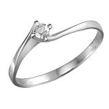 Кольцо из белого золота Amore с бриллиантом