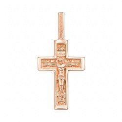 Крестик из красного золота с молитвой на тыльной стороне 000136133