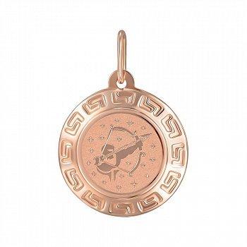 Підвіска з червоного золота знак зодіаку Стрілець 000150420