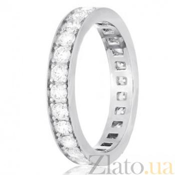 Кольцо из серебра Делоурс с цирконием 000030976