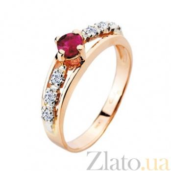 Золотое кольцо с рубином и бриллиантами Венера KBL--К1450/крас/руб