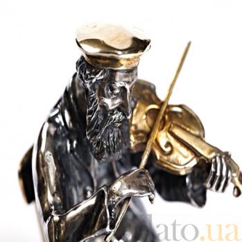Серебряная статуэтка Старый скрипач 497/к