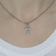 Серебряный крестик Благость