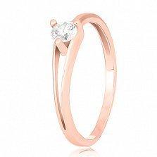 Серебряное кольцо с фианитом Амара