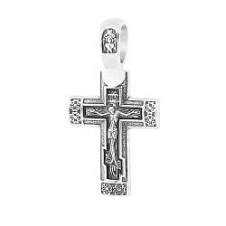 Серебряный крестик Святая Молитва с чернением 000038801