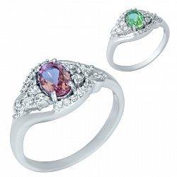 Серебряное кольцо Антонелла с султанитом и фианитами