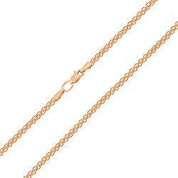 Цепь из красного золота в плетении двойной якорь 000104312