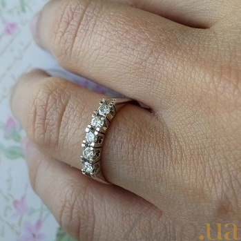Кольцо из белого золота с бриллиантами Элизабет R0652/бел