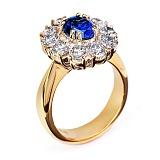 Золотое кольцо с бриллиантами Бриджит