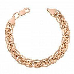 Браслет из красного золота в плетении Нонна Бисмарк 000103610