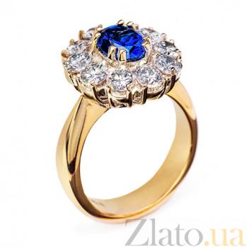 Золотое кольцо с бриллиантами Бриджит R 0407