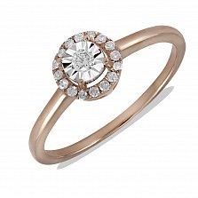 Кольцо из красного золота с бриллиантами Рози