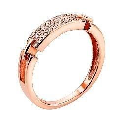 Кольцо из красного золота с фианитами 000133283