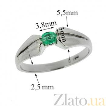 Серебряное кольцо с изумрудом Анита ZMX--RE-6029-Ag_K