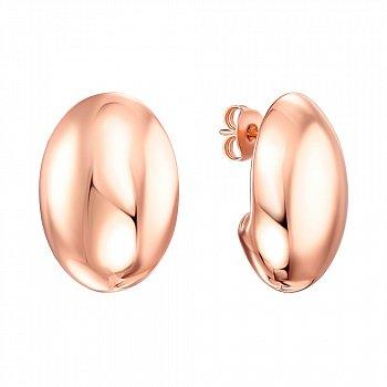 Серебряные серьги-пуссеты с позолотой 000138716