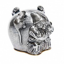 Серебряная рюмка Мешок добра с позолотой