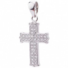 Серебряный крест Чистота с фианитами