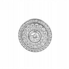 Серебряная родированная подвеска Магический круг с белыми фианитами