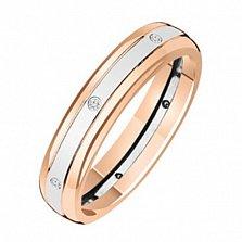 Золотое обручальное кольцо с бриллиантами Space