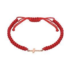Браслет из плетеного шнурка и красного золота 000141630