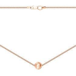 Колье из красного золота с алмазной гранью 000134510