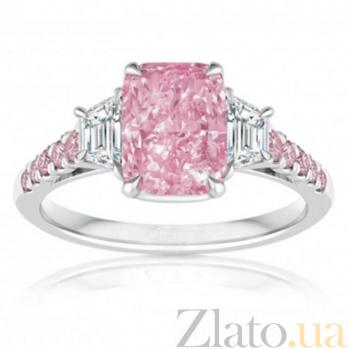 Кольцо Argile из белого и розового золота с бриллиантами и розовыми сапфирами R-cjAr-W/R-11s-2d