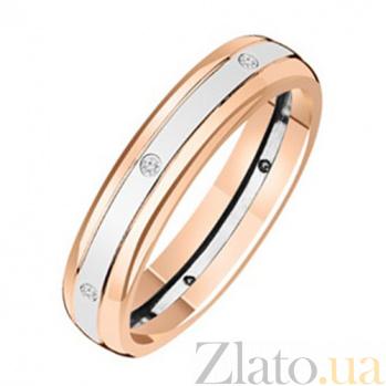 Золотое обручальное кольцо с бриллиантами Space KBL--К1553/комб/брил