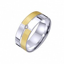 Золотое обручальное кольцо Геометрия счастья