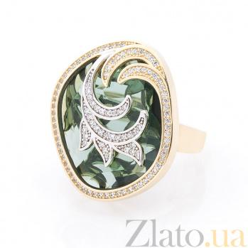 Золотое кольцо Сусанна в желтом цвете с фианитами 000082418