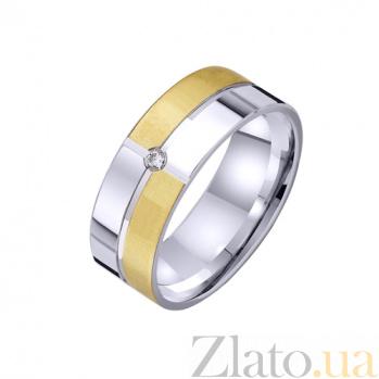 Золотое обручальное кольцо Геометрия счастья TRF--422552