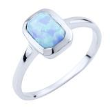 Серебряное кольцо Ромилда с опалом