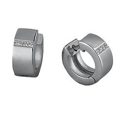 Серебряные серьги с бриллиантами Амбер