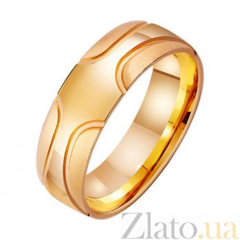 Золотое обручальное кольцо Современность TRF--411915