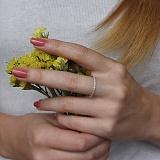 Серебряное кольцо Жаннет с прозрачными фианитами
