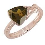 Кольцо в красном золоте Деметра с раухтопазом