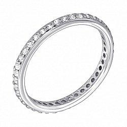 Кольцо из белого золота с фианитами 000122177