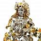 Серебряная композиция Девушка-Осень 1664