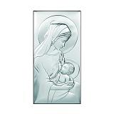 Католическая икона Млекопитательница на деревянной подложке, 18х36см