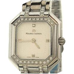 Часы Maurice Lacroix с бриллиантами по периметру циферблата коллекции Les Classiques