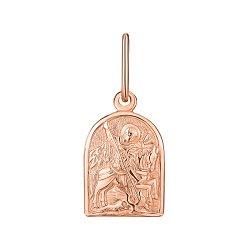 Ладанка из красного золота Георгий Победоносец 000143858