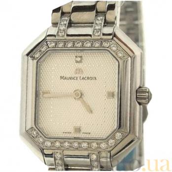 Часы Maurice Lacroix с бриллиантами по периметру циферблата коллекции Les Classiques MLX--LC2021-SD628-150