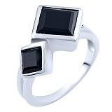 Серебряное кольцо Анвар с ониксом